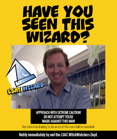 LSAT Wizard Wanted Poster